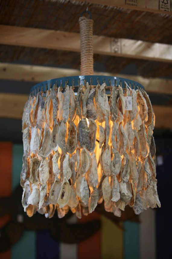 Oyster Shell Chandelier Via Etsy