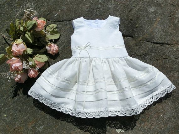 White christening gown girls baptism dress by englaCharlottaShop