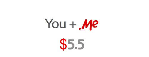 .ME domain name $5.5,Register Now
