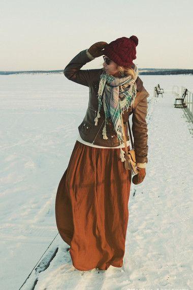 bohemian winter look by mariyaleontyeva Мария Леонтьева