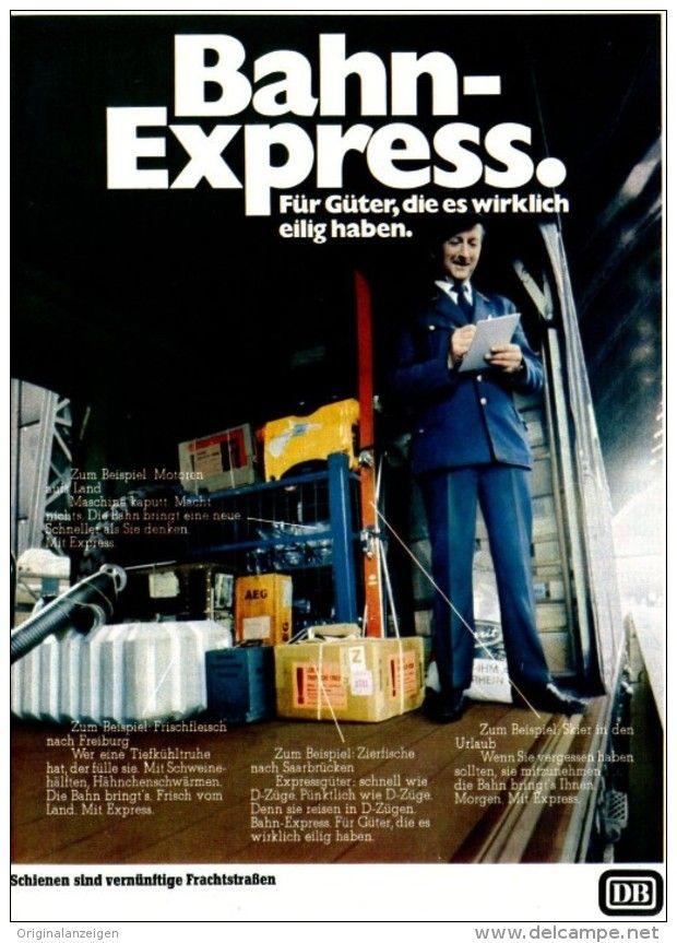 Werbung - Original-Werbung/ Anzeige 1968 - BAHN - EXPRESS / DEUTSCHE BUNDESBAHN - ca. 180 x 240 mm