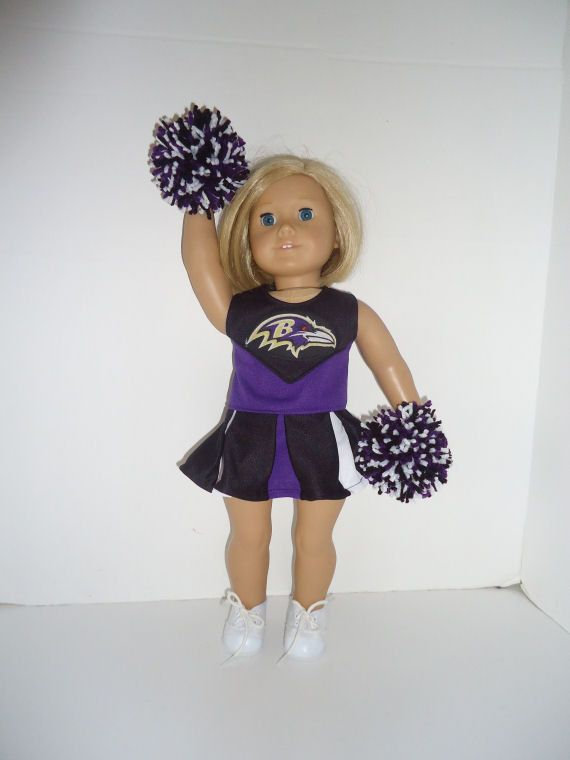 Baltimore Ravens Cheerleader Outfit for American Girl Doll