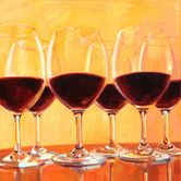 Found it at Wayfair - 'Vanilla Mingle Red Wine Glasses' by Penelope Moore Photographic Print on Wrapped Canvas ART you can buy directly from us! Available in framed, canvas, posters, and prints! At prices that won't break the bank. www.buyart4less.com #buyartforless