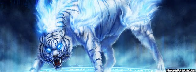 Imagen de un tigre en tono azul