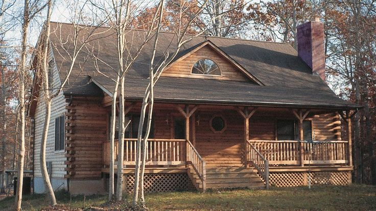 Log Home Design Plan and Kits for Bent Willow $49431.00 Total Heated - 1286 Porch - 272 Levels - 1 1/2 Bedrooms - 4 Baths - 2