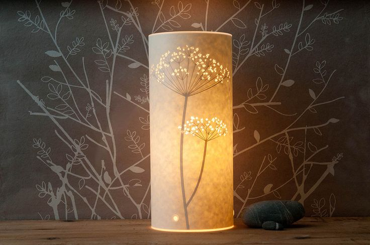 Small Cow Parsley Table Lamp by Hannahnunn on Etsy https://www.etsy.com/listing/55625664/small-cow-parsley-table-lamp