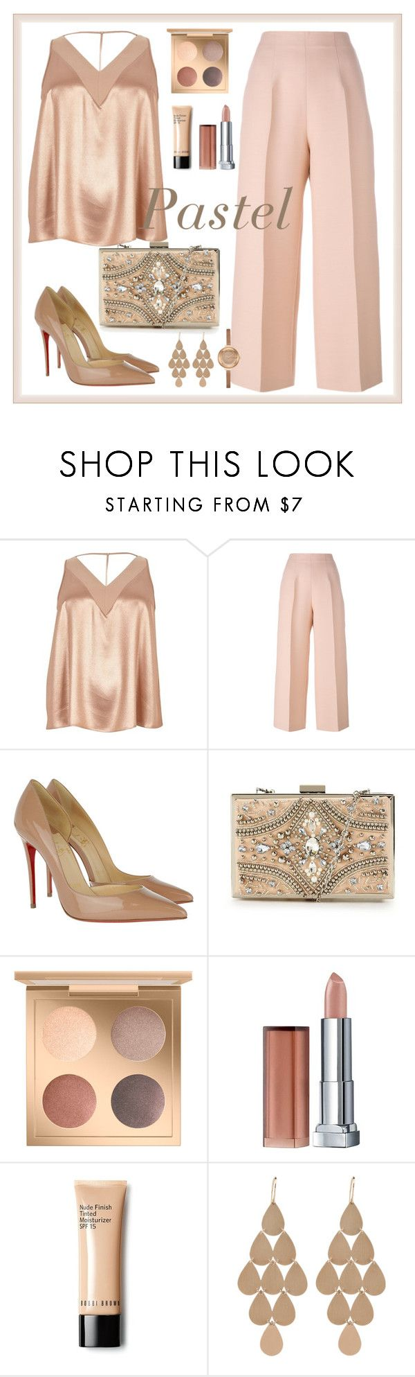 """""""Untitled #204"""" by aida0488 ❤ liked on Polyvore featuring River Island, Fendi, Christian Louboutin, Forever Unique, Maybelline, Irene Neuwirth and plus size clothing"""