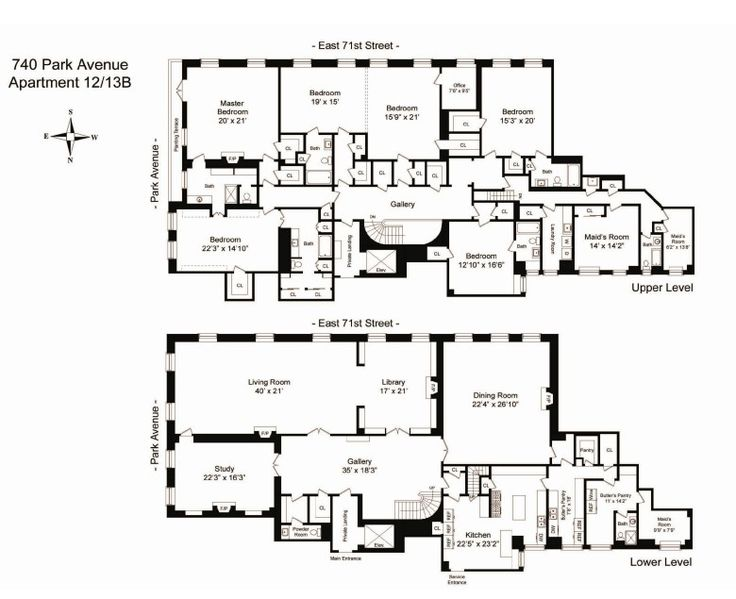 740 park avenue old new york apartment floor plan nice - Apartment designs and floor plans ...