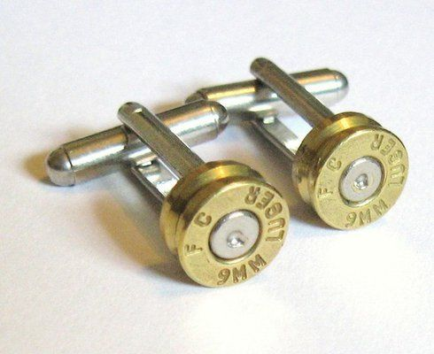 9mm Pitol Bullet Casing shell Cufflinks