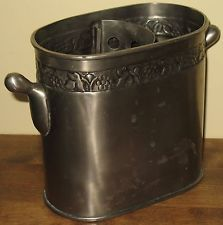 new listing pottery barn divided pewter wine cooler ice bucket grapevine trim http www. Black Bedroom Furniture Sets. Home Design Ideas