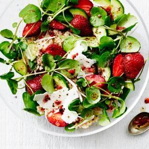 Strawberry, Quinoa, and Ricotta Salata Salad   MyRecipes.com