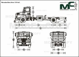 Mercedes-Benz Atron 1319 4x2 - чертеж