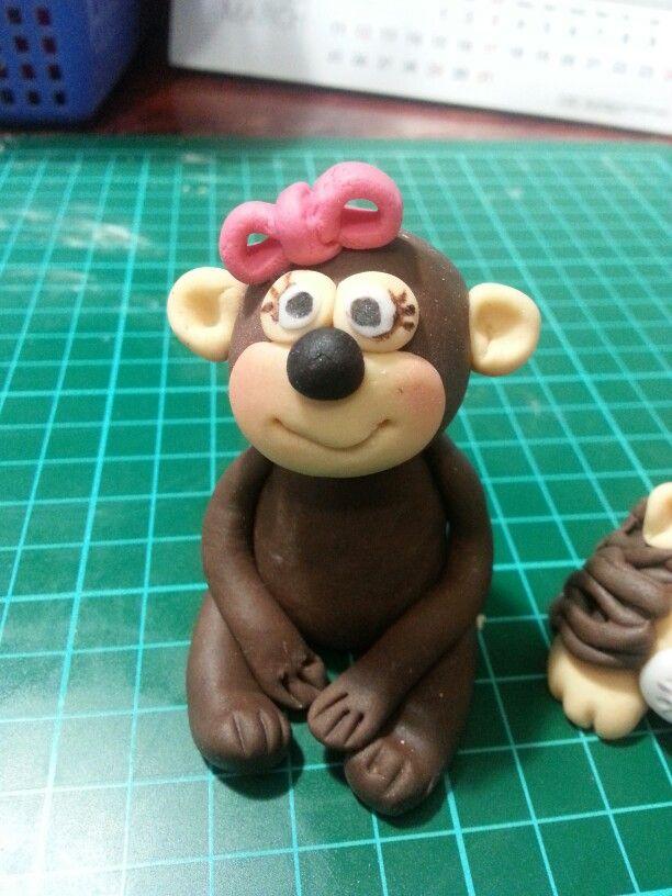 Sweety monkey edible topper