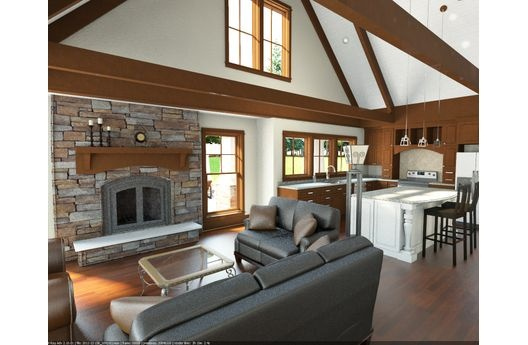 Open to kitchen - love first floor layout