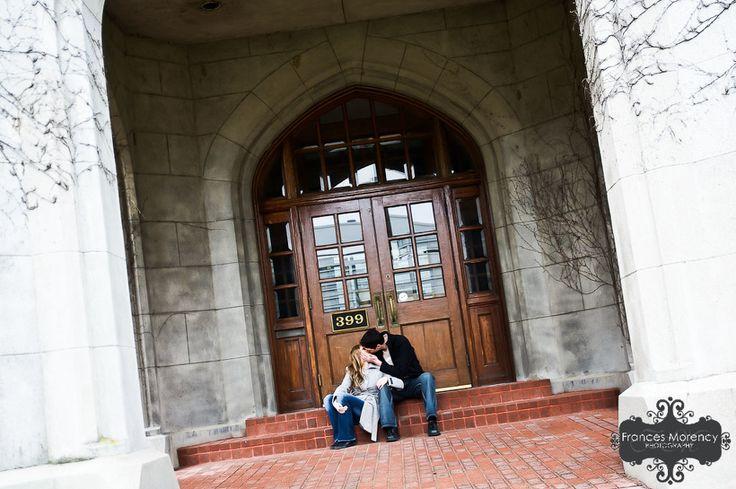 Courthouse Engagement Photography
