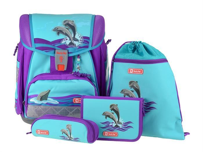 Step by Step Schulranzen Set Touch 2 Happy Dolphin Delfin für Mädchen