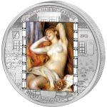 "Cook Islands 2012 20$ ""The Sleeping Bather"" Pierre-Auguste Renoir Masterpieces of Art 3 Oz Proof Silver Coin"