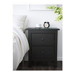 Ikea HEMNES black-brown bedside table