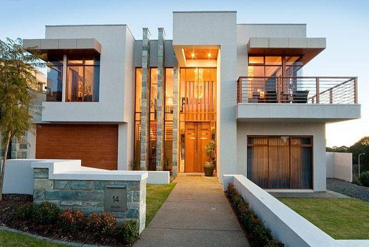 fotos de fachadas de casas modernas de dos pisos | Diseño de interiores