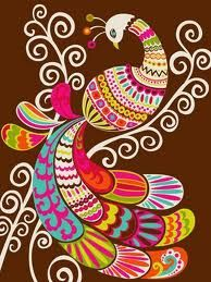 folk art peacock - Google Search