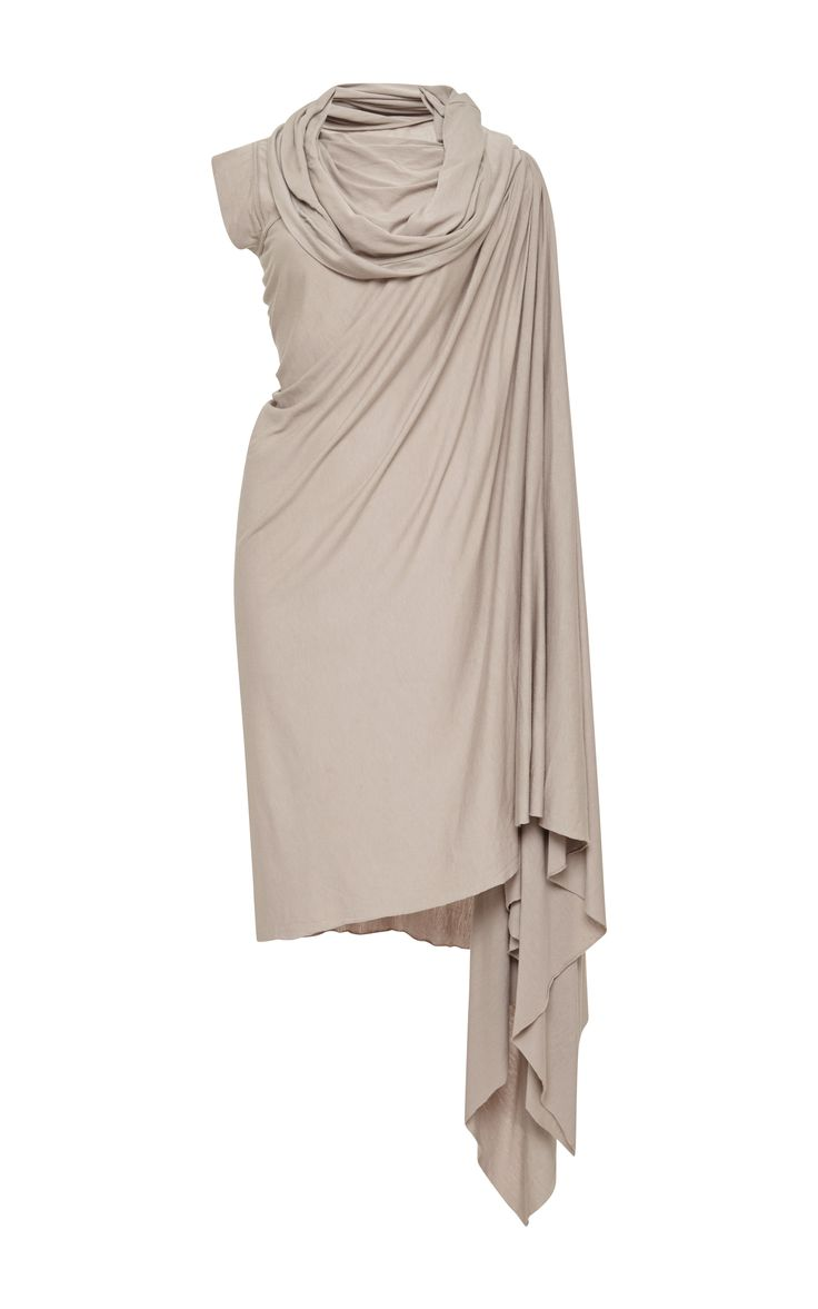 Viscose Over The Shoulder Wrap Dress by Rick Owens Lilies - Moda Operandi