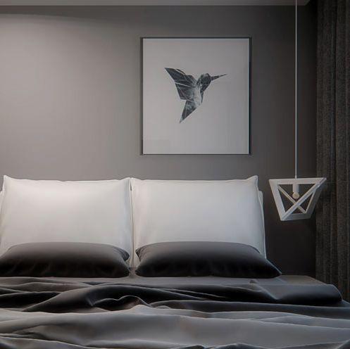 Bedroom design in Warsaw, POLAND - archi group. Sypialnia w mieszkaniu w Warszawie.