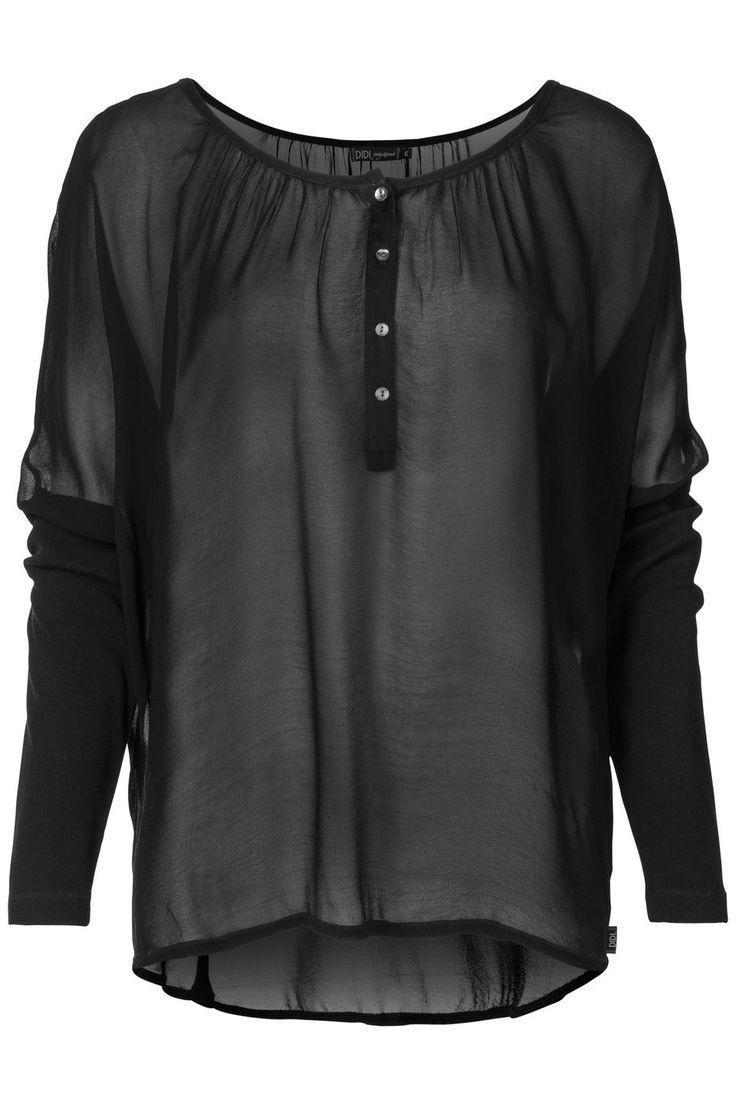 Basic black blouse with a twist... #blousehunting no.4 rib sleeves bij Didi® Officiële Webshop | Didi.nl