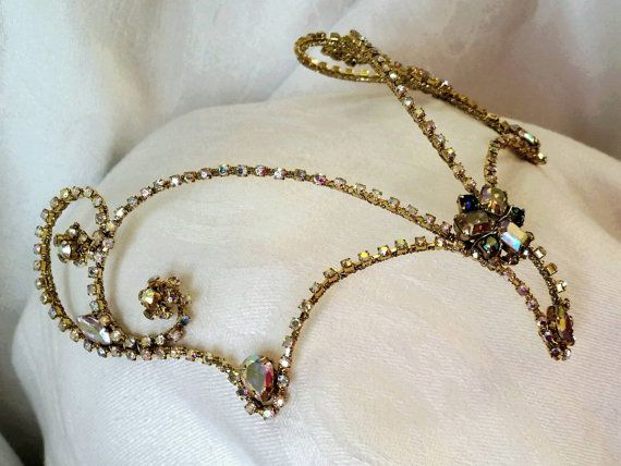 One-of-a-kind Diadem with Vintage Elements       **Ready to Ship **