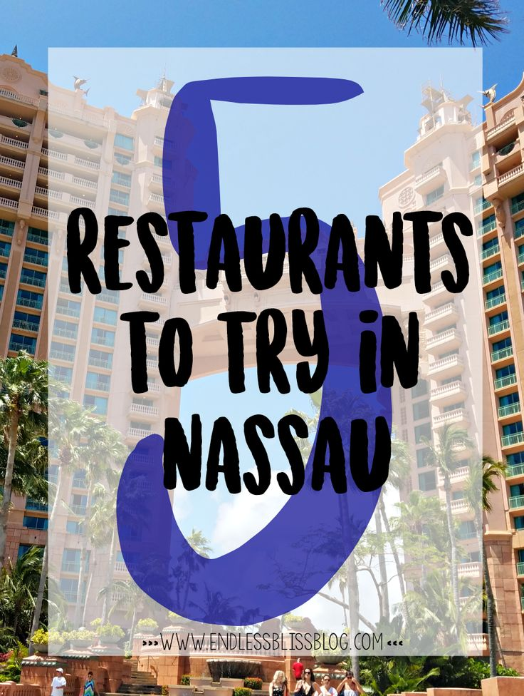 Looking for somewhere to sample some local cuisine in Nassau, Bahamas? Check out these 5 awesome restaurants and let your taste buds do the talking.