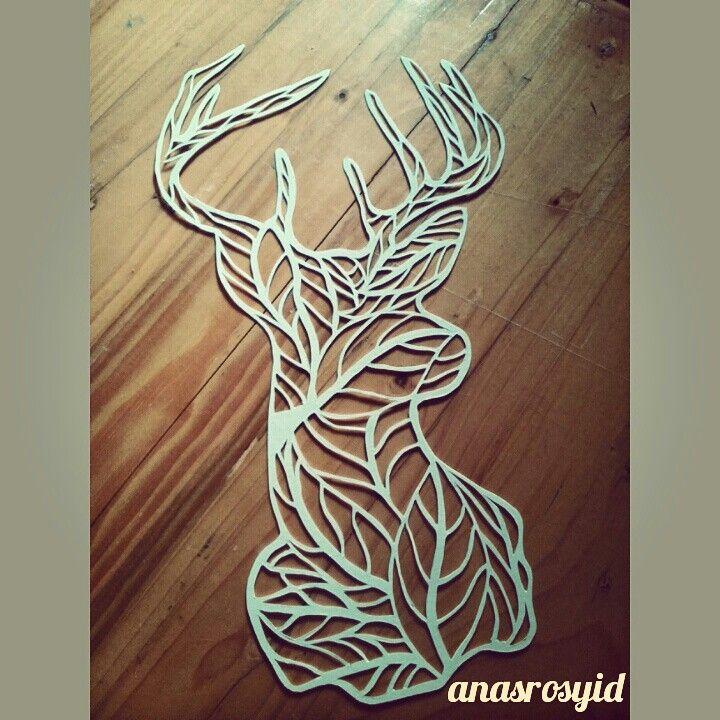 #deer #papercut