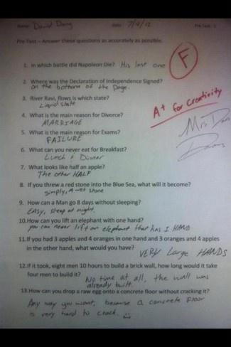 Perfect answers
