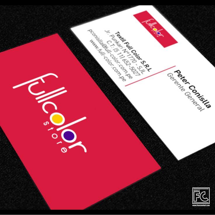 una gran tarjeta de presentación refleja la personalidad de la compañía: simple pero efectiva. diseño para la empresa Full Color EIRL. año 2009.