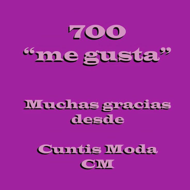 """Cuntis Moda: 700 """"likes"""" en Facebook, http://cmcuntismoda.blogspot.com.es/2015/01/700-likes-en-facebook.html"""