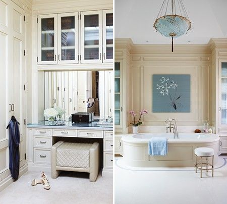 Designer Brian Gluckstein Added Plenty Of Storage To This Principal Dressing  Room And Bathroom.