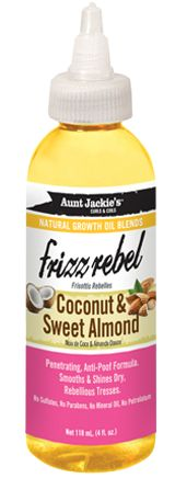 Aunt Jackie's Frizz Rebel Coconut & Sweet Almond Growth Oil 4 oz