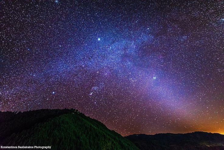 Ο Γαλαξίας και Ζωδιακό Φως Photo Credit: Konstantinos Basilakakos Photography