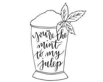 Mint julep Derby Door Hanger by forpetessakepottery on