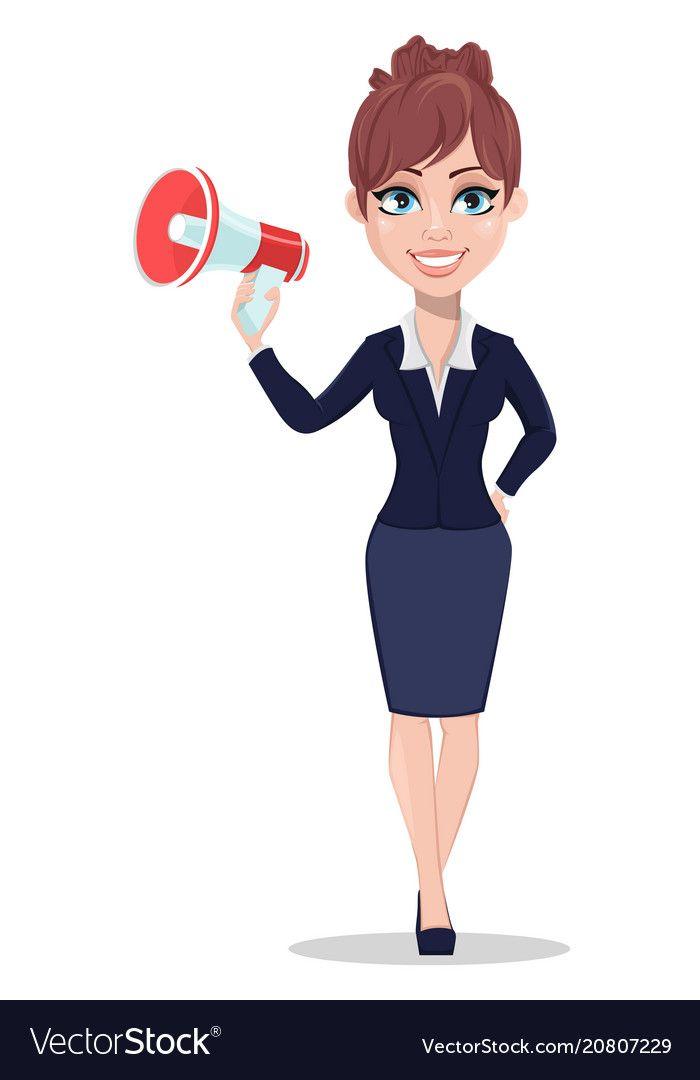 Beautiful Business Woman In Office Style Clothes Vector Image Business Women Women Business Illustration