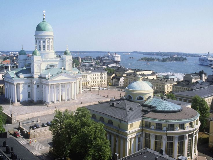 Helsinki Cathedral in the Kruununhaka neighborhood in the center of Helsinki.