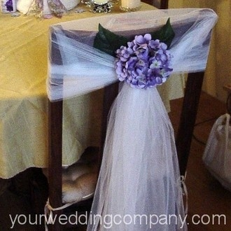 chairs  - we can used black netting and black wreaths