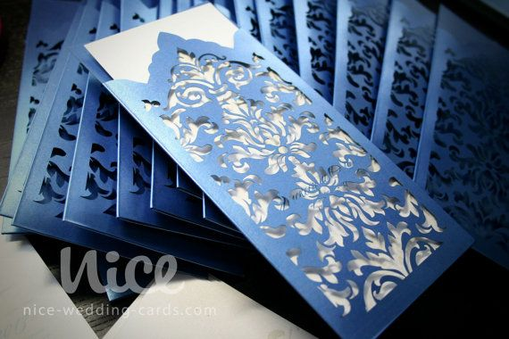 #wedding invitation in blue laser by niceWeddingCards