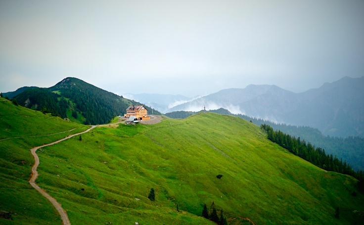 Rotwandhaus. 1765m above sea level. Bavarian Alps, Germany.