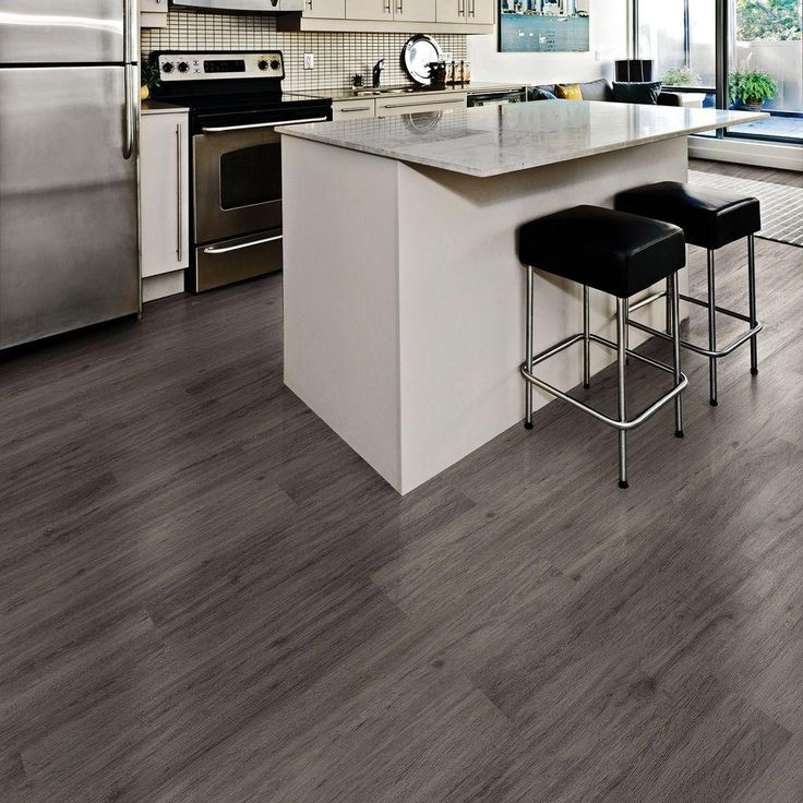 Allure ISOCORE XL 8.7 in. x 59.4 in. Gotham Oak Grey Resilient Vinyl Plank Flooring (21.45 sq. ft. / case)