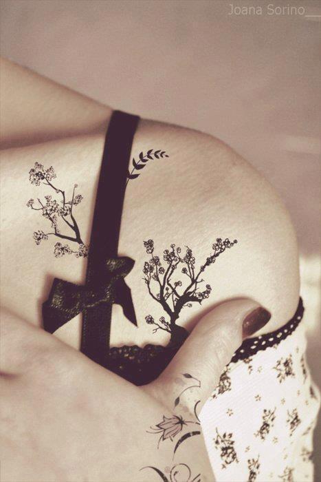 floral tatoos for girls