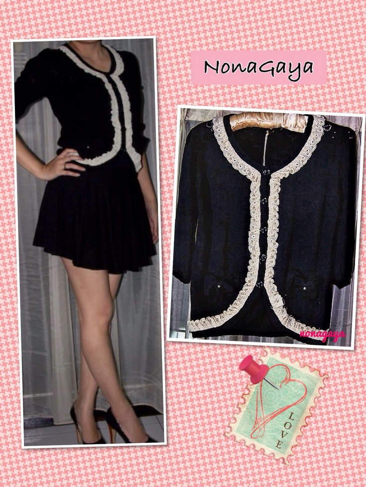 Black Cardigan Rp 180.000 In stock.