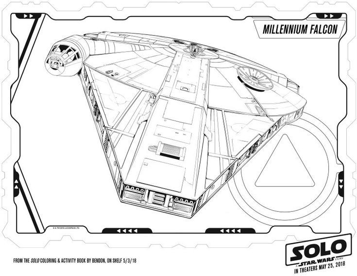 Millennium Falcon Coloring Page Coloring Pages Free Printable