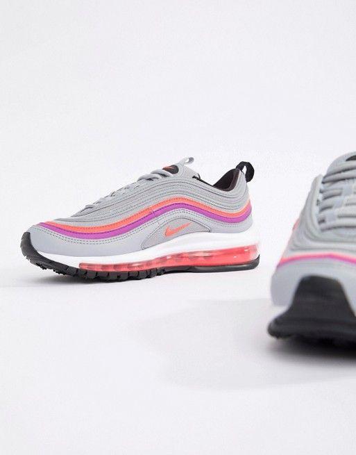 47c9c6bccc6 Nike - Grijze en roze Air Max 97 sneakers   Sneakers Outfit Ideas ...
