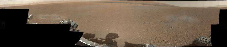 Curiosity's first 360 panoramic colour image