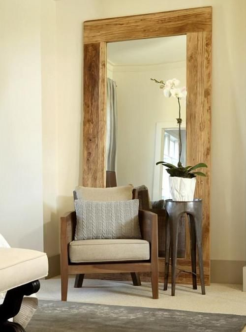 Specchio XL da terra cornice in legno massello anche su