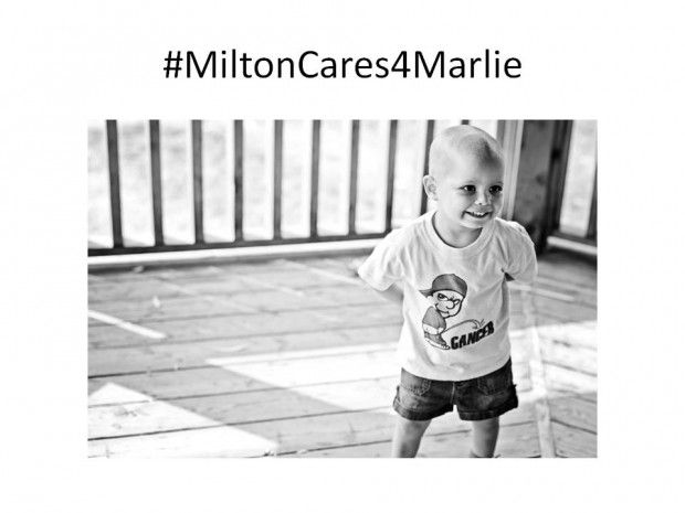 Join your fellow #MiltonON friends for a Fundraiser at Shoeless Joes Milton to benefit Marlie Dowe on Thursday February 21st from 5-8pm.